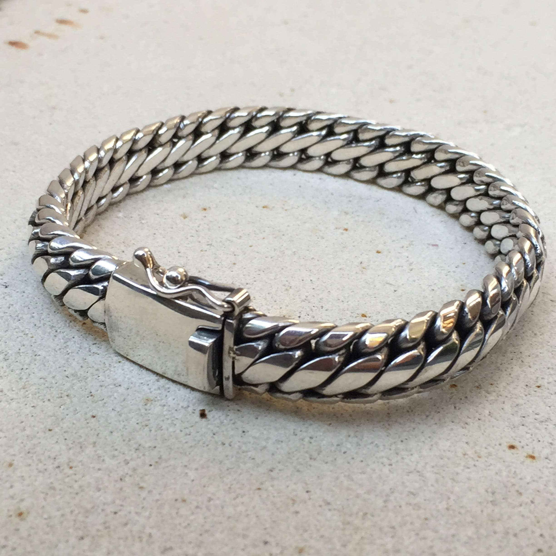 Br 08099 1 Pc Of 925 Bali Silver Men Bracelets 13 Mm 200