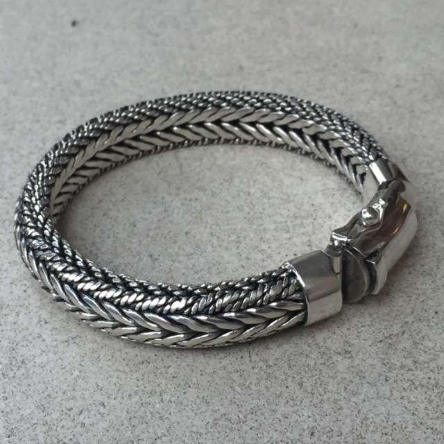 Br 12323 1 Pc Of 925 Bali Silver Men Bracelets 8 Mm 210