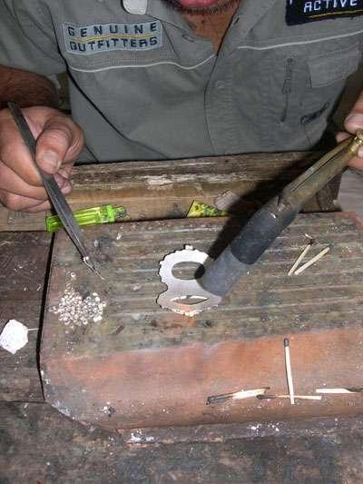 Bali silvermith put the granulated bead in Bali silver jewelry