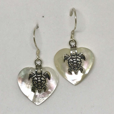 ER 13623 A MP-BALI SILVER EARRINGS WITH MOP