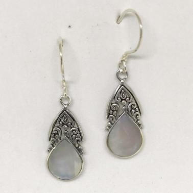 ER 13245 MP-BALI SILVER EARRINGS WITH MOP