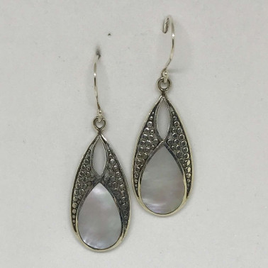 ER 13242 MP-BALI SILVER EARRINGS WITH MOP