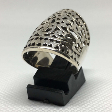 RR 11115-1 PC OF HAND CARVED 925 BALI SILVER RINGS