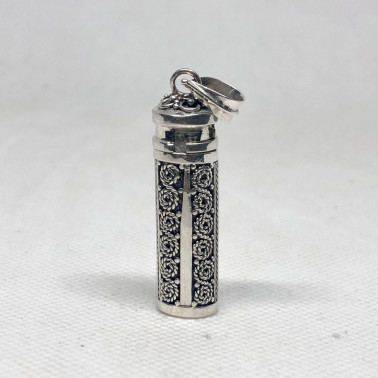 PD 14592-Perfume Prayer Pill Box 925 Bali Silver Pendant