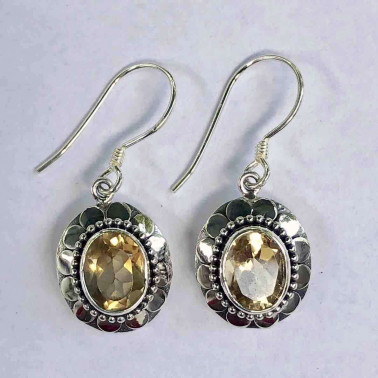 ER 11433 CT-BALI SILVER EARRINGS WITH CITRINE