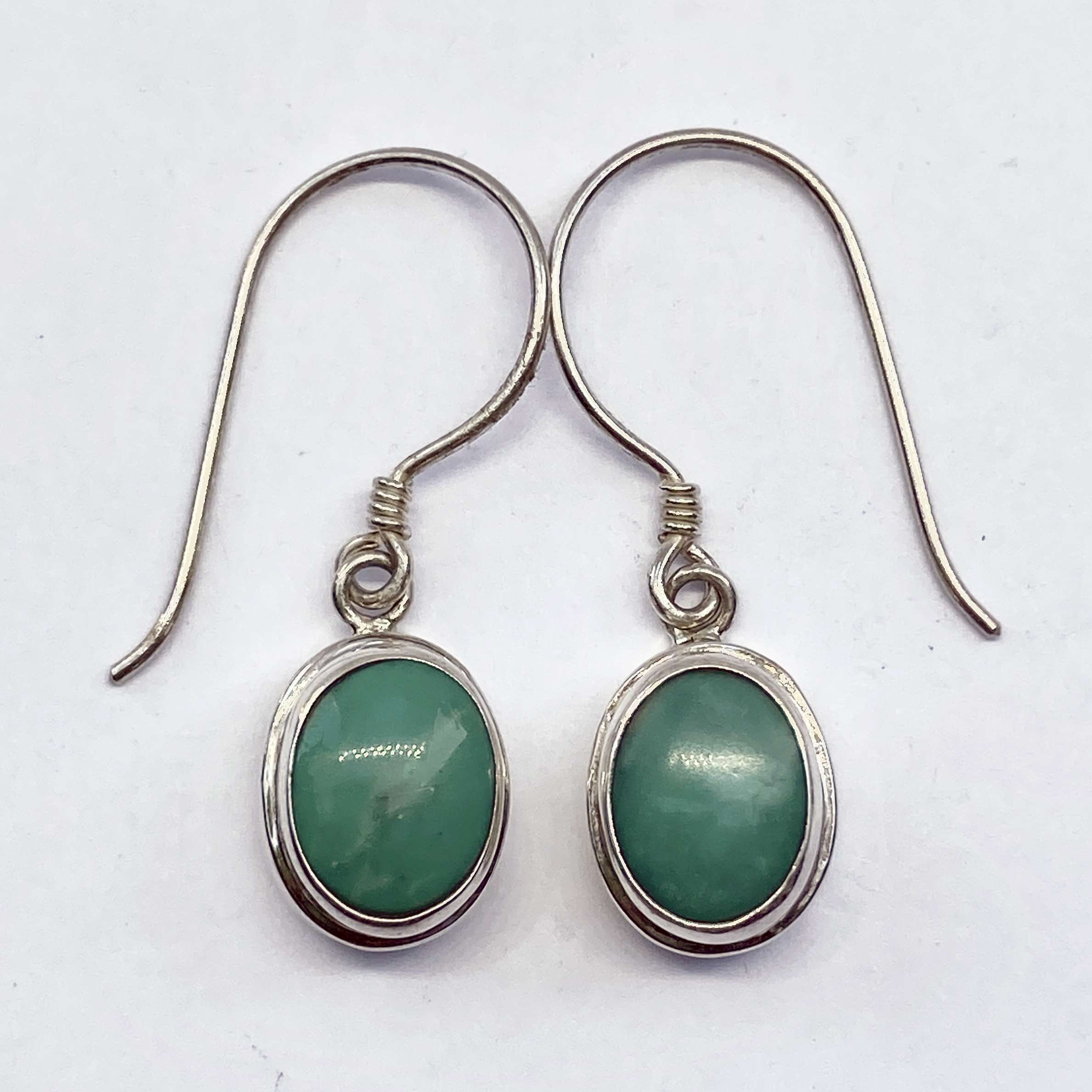 (HANDMADE 925 BALI STERLING SILVER EARRINGS WITH TURQOUISE)