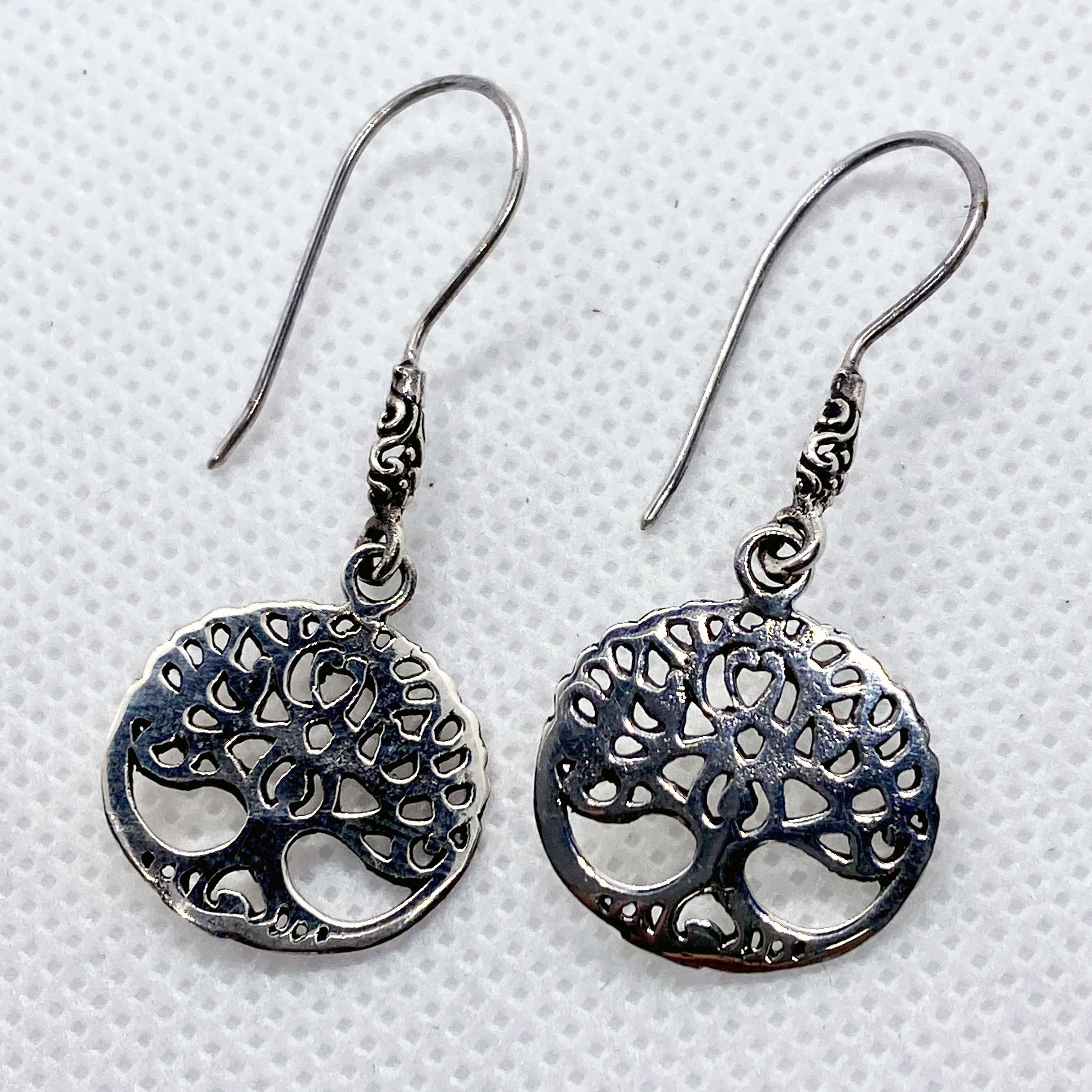 (UNIQUE 925 BALI STERLING SILVER THREE OF LIFE EARRINGS)