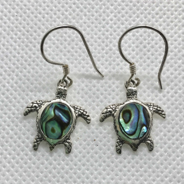ER 14200 AB-BALI 925 STERLING SILVER EARRINGS WITH ABALONE