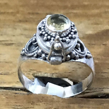 RR 13778 CT-BALI 925 SILVER POISON RINGS WITH CITRIN