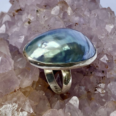 RR 05896-(HANDMADE 925 BALI STERLING SILVER RINGS WITH COKLY SHELL)