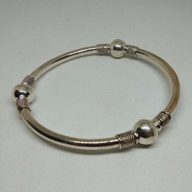 BR 11898-(HANDMADE 925 BALI STERLING SILVER BANGLE BRACELET)