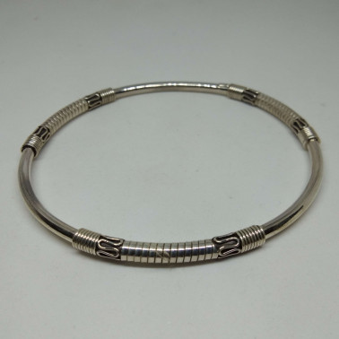 BR 10096-(HANDMADE 925 BALI STERLING SILVER BANGLE BRACELET)