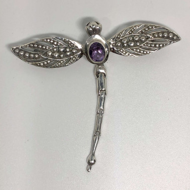 PD 14675 AM-Sweet Dragonfly 925 Bali Silver Pendant