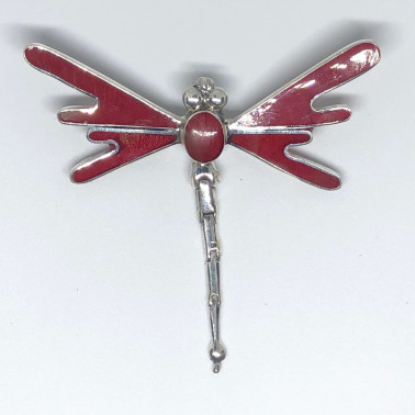 PD 13563 CR-Sweet Dragonfly 925 Bali Silver Pendant