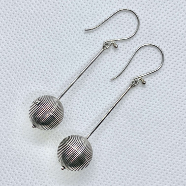 ER 11058-(UNIQUE 925 BALI SILVER WIRED EARRINGS)