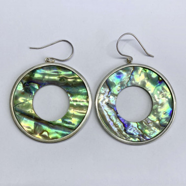 ER 05123 AB-(BALI 925 STERLING SILVER EARRINGS WITH ABALONE)
