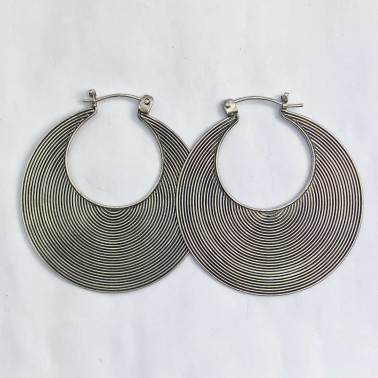 ER 06855 M-(HANDMADE 925 BALI SILVER WIRED EARRINGS 35 MM)