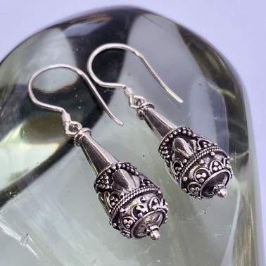 ER 11049-(HANDMADE 925 BALI STERLING SILVER FILIGREE EARRINGS)