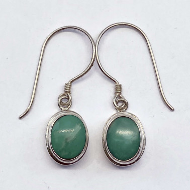 ER 13553 TQ-(HANDMADE 925 BALI STERLING SILVER EARRINGS WITH TURQOUISE)