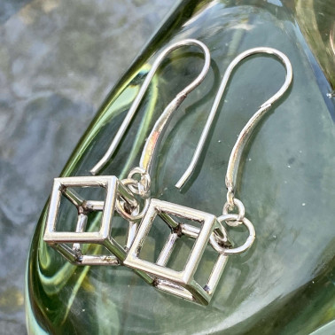 ER 13888-(HANDMADE 925 BALI STERLING SILVER EARRINGS)