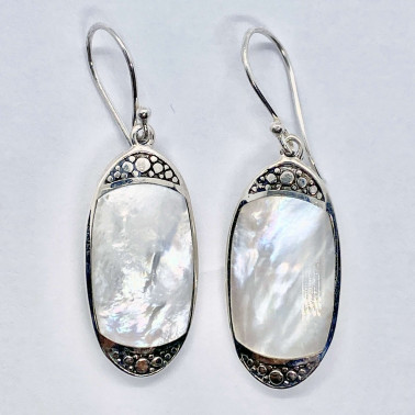 ER 14714 MP-(BALI 925 STERLING SILVER EARRINGS WITH MOTHER OF PEARL)
