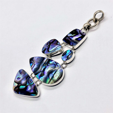 PD 05556 AB-(HANDMADE 925 BALI STERLING SILVER PENDANT WITH ABALONE)