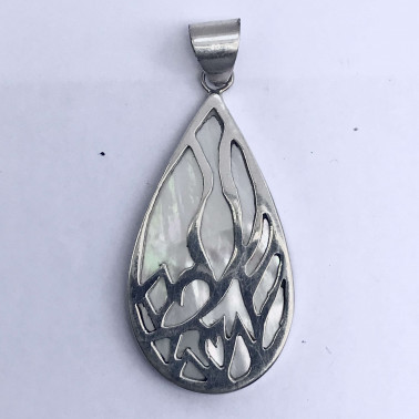 PD 09160 MP-(HANDMADE 925 BALI SILVER PENDANT WITH MOP)