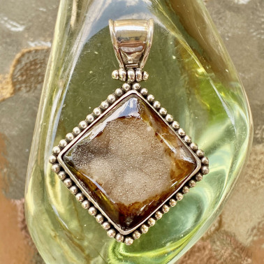 PD 09877 DR-(HANDMADE 925 BALI STERLING SILVER PENDANTS WITH DRUSSY)