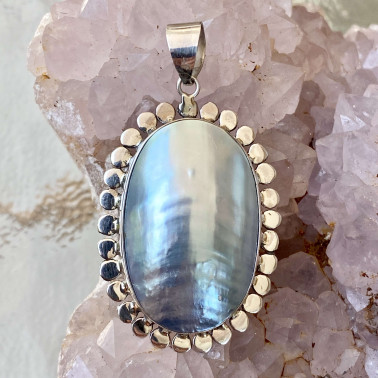 PD 11818-(HANDMADE 925 BALI STERLING SILVER PENDANTS WITH SHELL)