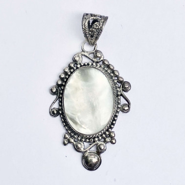 PD 13254 MP-(HANDMADE 925 BALI SILVER PENDANT WITH MOTHER OF PEARL)