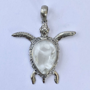 PD 13257 MP-(HANDMADE 925 BALI SILVER PENDANT WITH MOTHER OF PEARL)