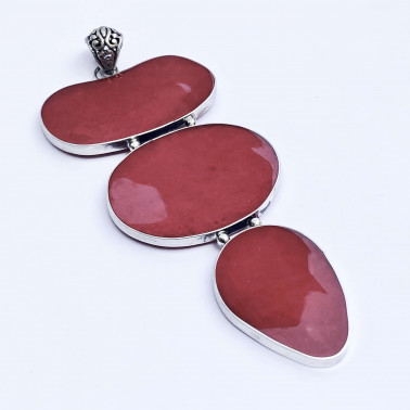 PD 13339 CR-(HANDMADE 925 BALI SILVER PENDANT WITH CORAL)