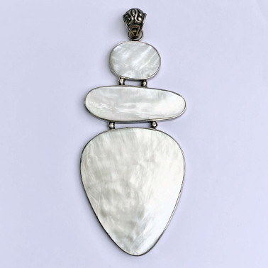 PD 13341 MP-(HANDMADE 925 BALI SILVER PENDANT WITH MOTHER OF PEARL)