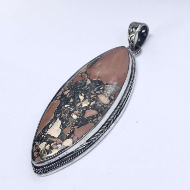 PD 14158 A-(HANDMADE 925 BALI SILVER PENDANT WITH INDOSIAN AGATE)