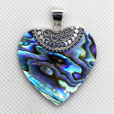 PD 14164 AB-(HANDMADE 925 BALI SILVER PENDANT WITH ABALONE)
