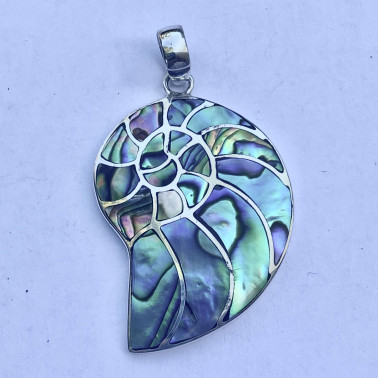 PD 14778 AB-(HANDMADE 925 BALI SILVER PENDANTS WITH ABALONE)