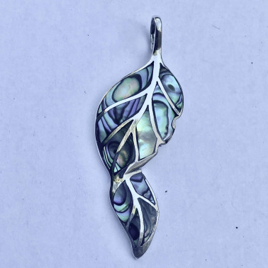 PD 14779 AB-(HANDMADE 925 BALI SILVER PENDANTS WITH ABALONE)
